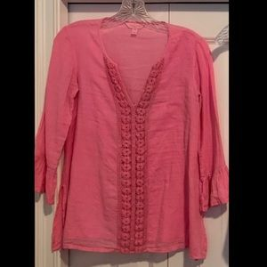 Lilly Pulitzer Pink Blouse Top XXS